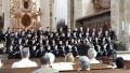 Stadtsingechor zu Halle bei einer Motette im Dom zu Merseburg
