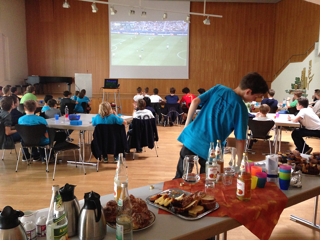 Chor beim non-public viewing