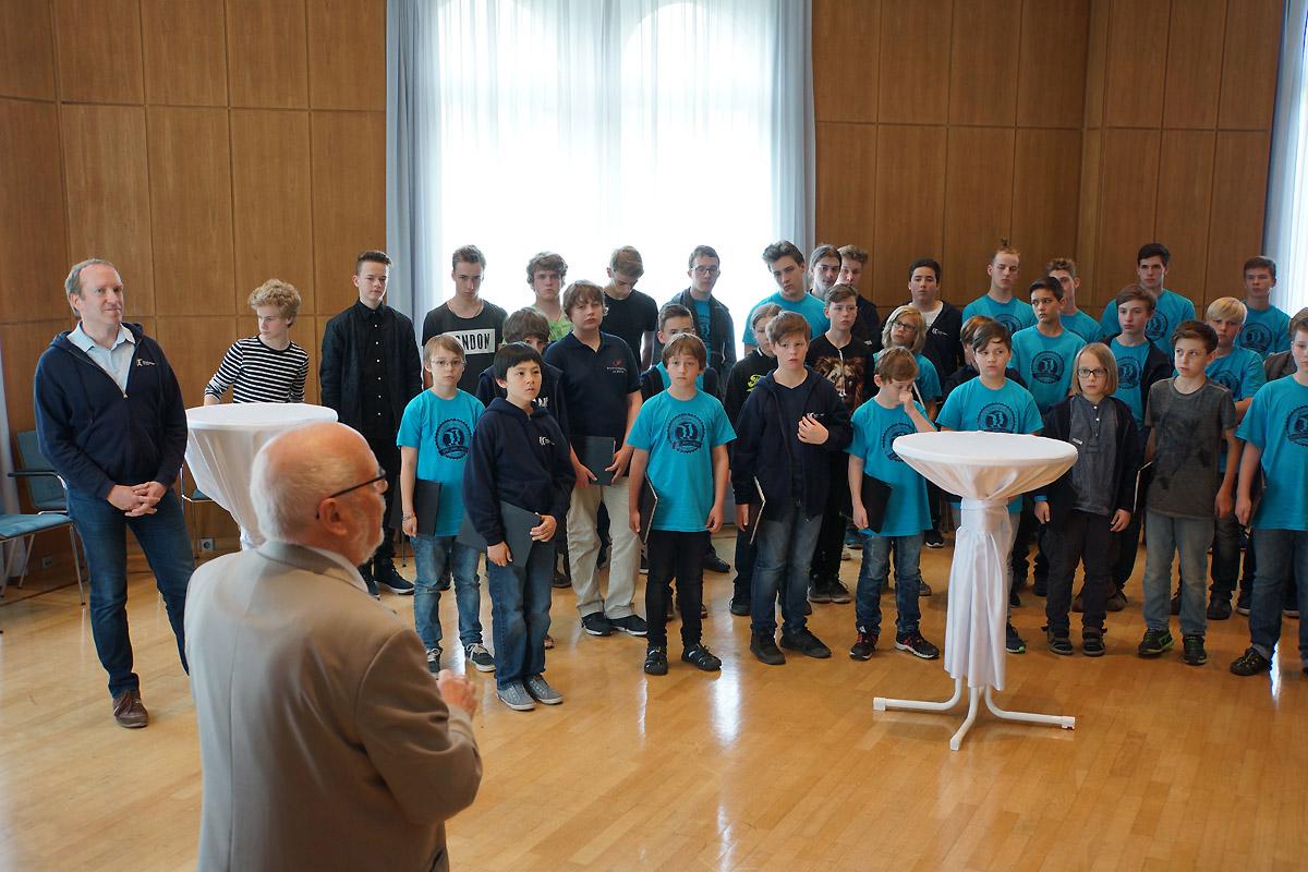 Empfang beim Stadtrat der Partnerstadt Karlsruhe