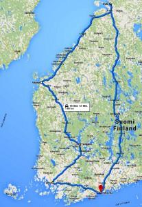 Reiseroute Finnland